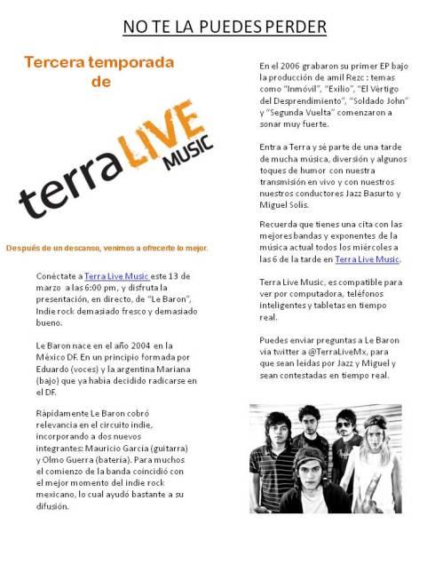 tercera temporada de live with music